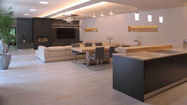 Moderní interiér ve světlých barvách