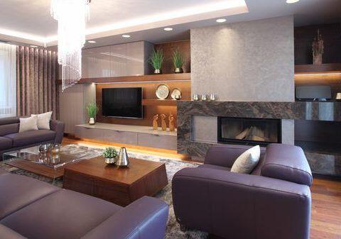 Luxusní kuchyně a obytný prostor v domě