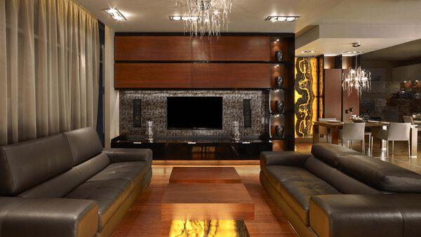 Luxusní interiér s onyxem