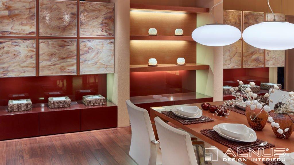 design interiéru domu s luxusní jídelnou