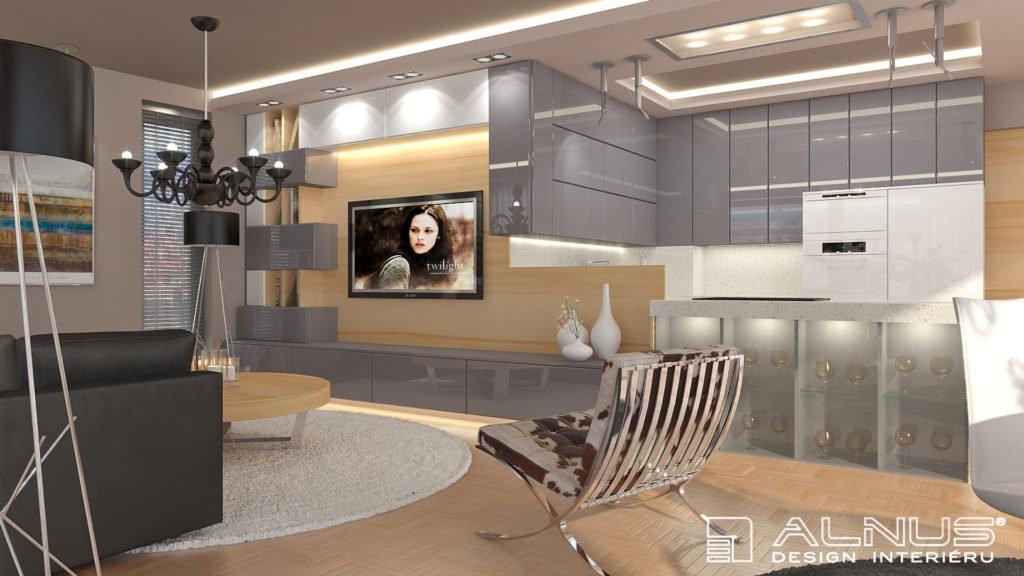 propojení a navázání kuchyně s obývákem