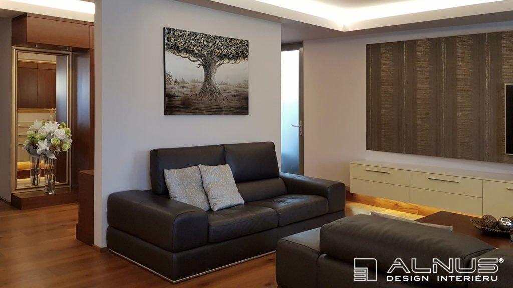 design obývacího pokoje interiéru bytu