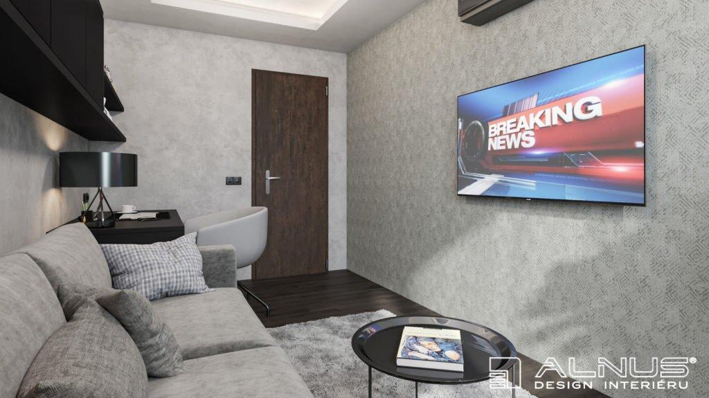 pracovna v malém interiéru bytu