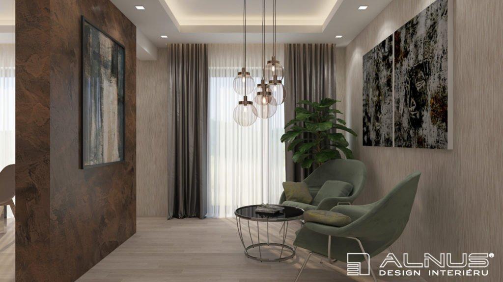 relaxační křesílka v moderním interiéru bytu