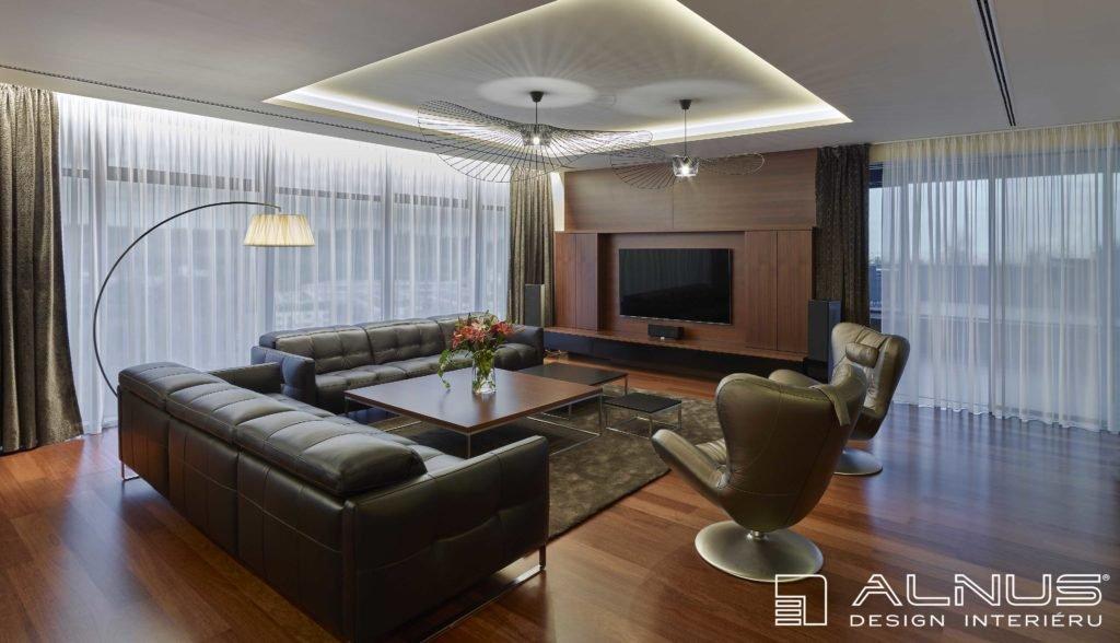 realizace interiéru bytu praha s podsvícením stropu