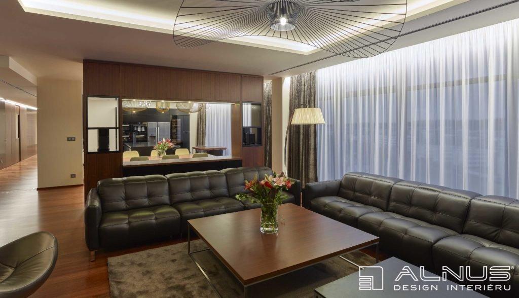 realizace interiéru bytu praha s podsvícenými podhledy
