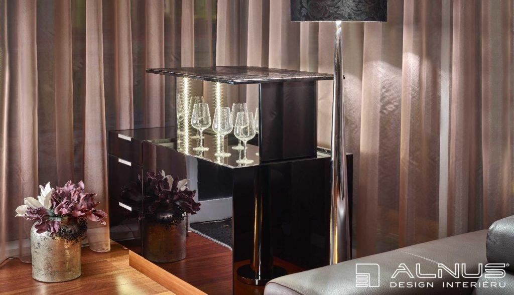 luxusní designový nábytek s výsuvným barem