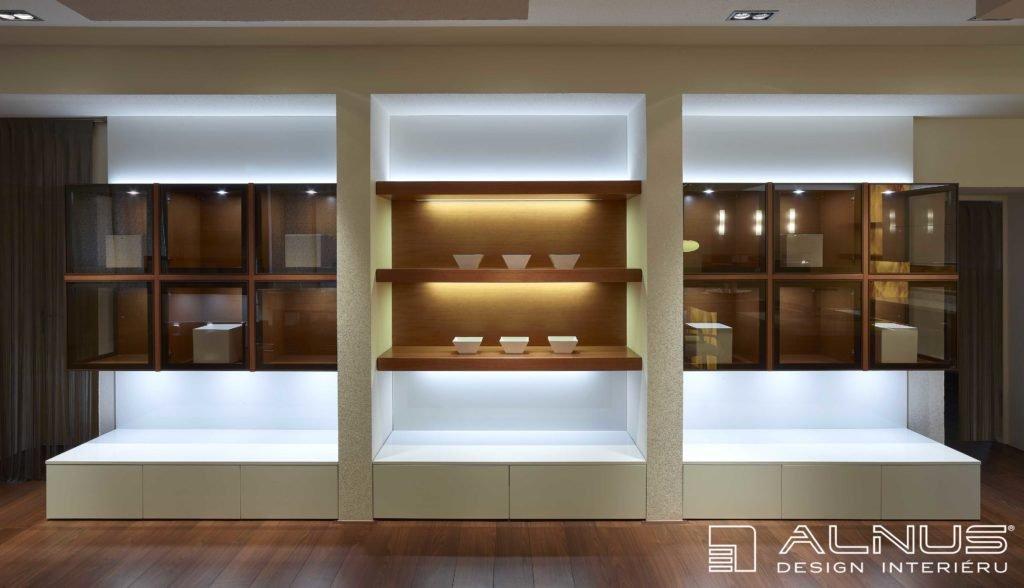 osvětlení nábytkové sestavy moderního interiéru bytu