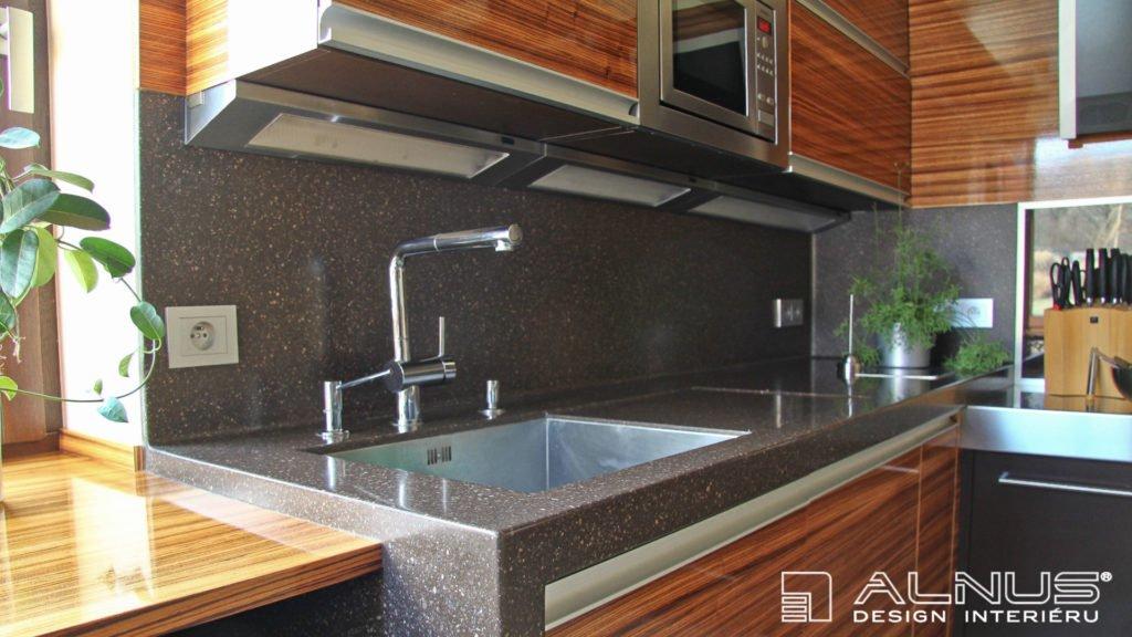 umělý kámen corian v moderní kuchyni