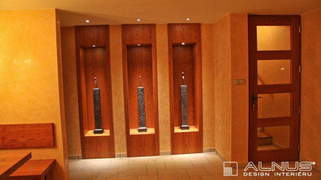 niky pro umělecké sochy v interiéru domácí vinotéky