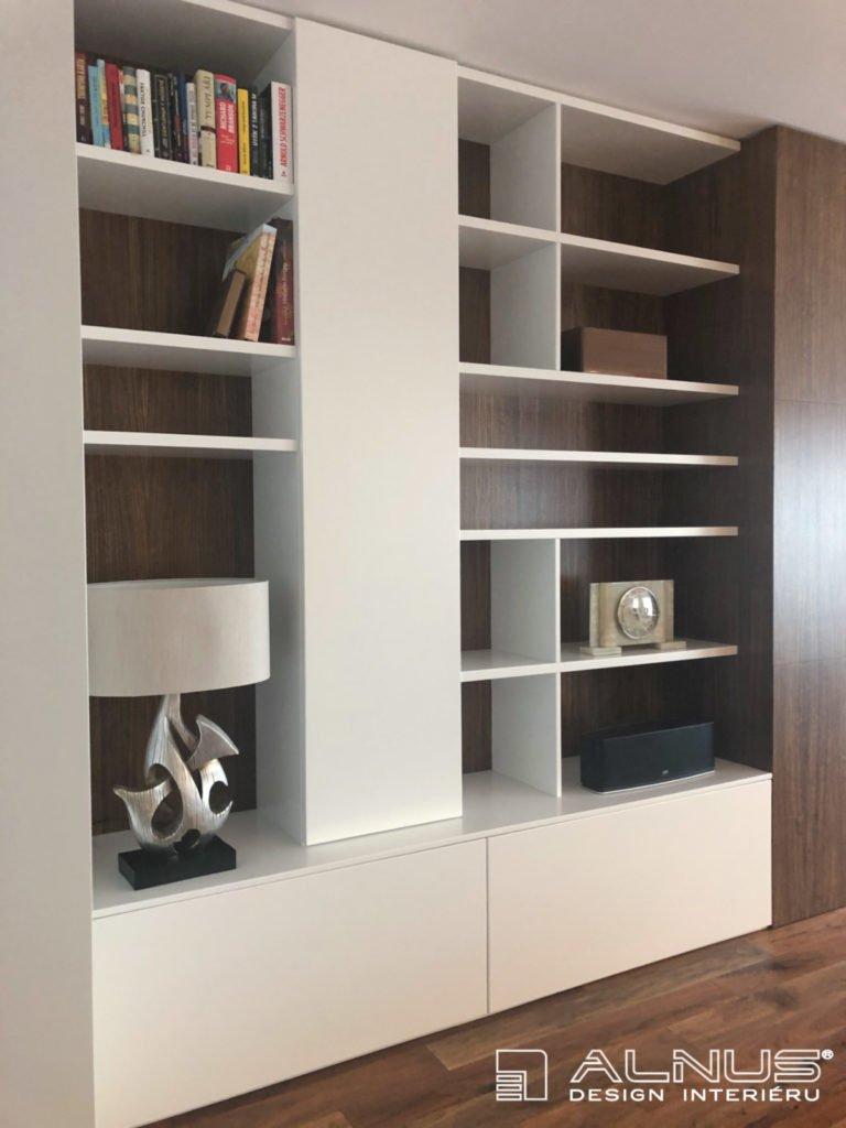 minimalistický design knihovny