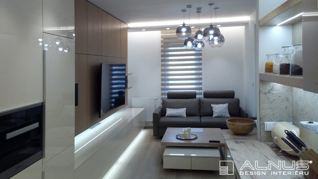 propojení kuchyně s obývákem