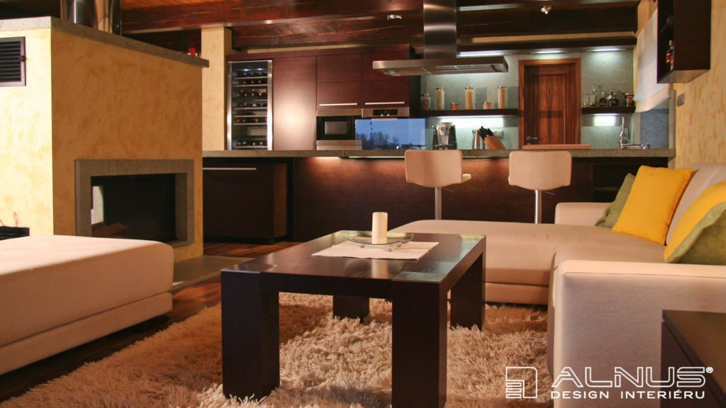 design interiéru chaty
