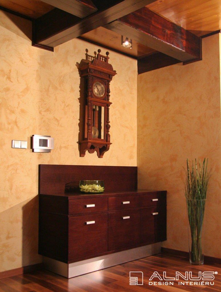 design komody interiéru chalupy