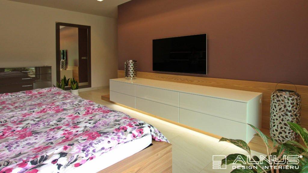 moderní design komody ložnice v interiéru domu v praze