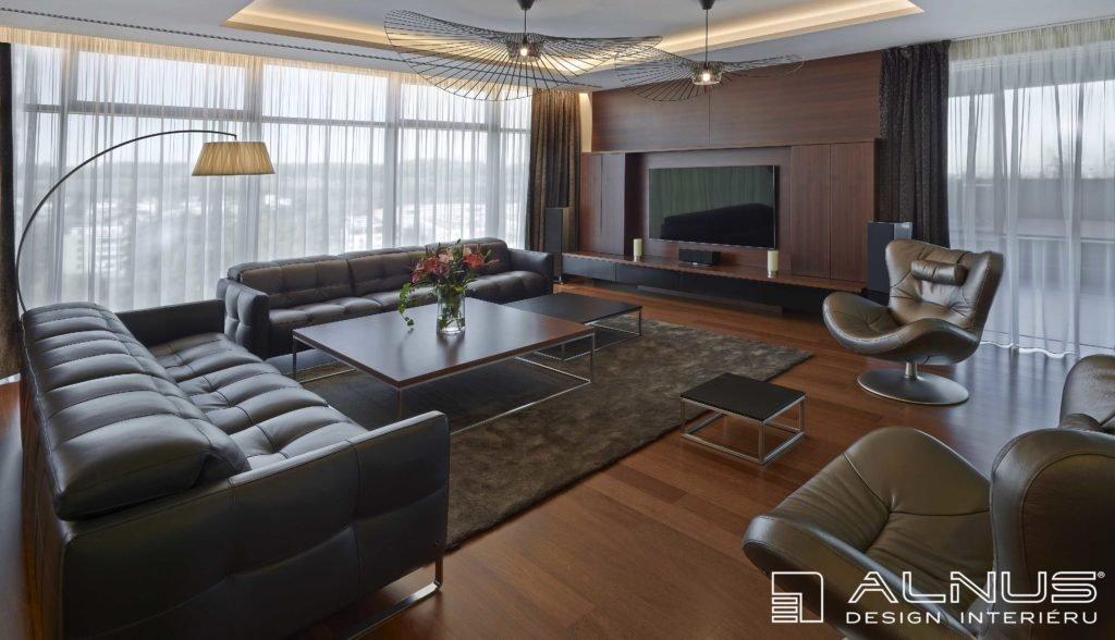 realizace moderního interiéru bytu praha s podsvícenými podhledy
