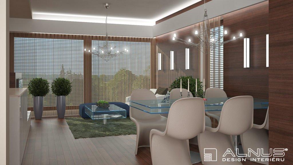 obložení stěn v malém interiéru bytu 2+kk