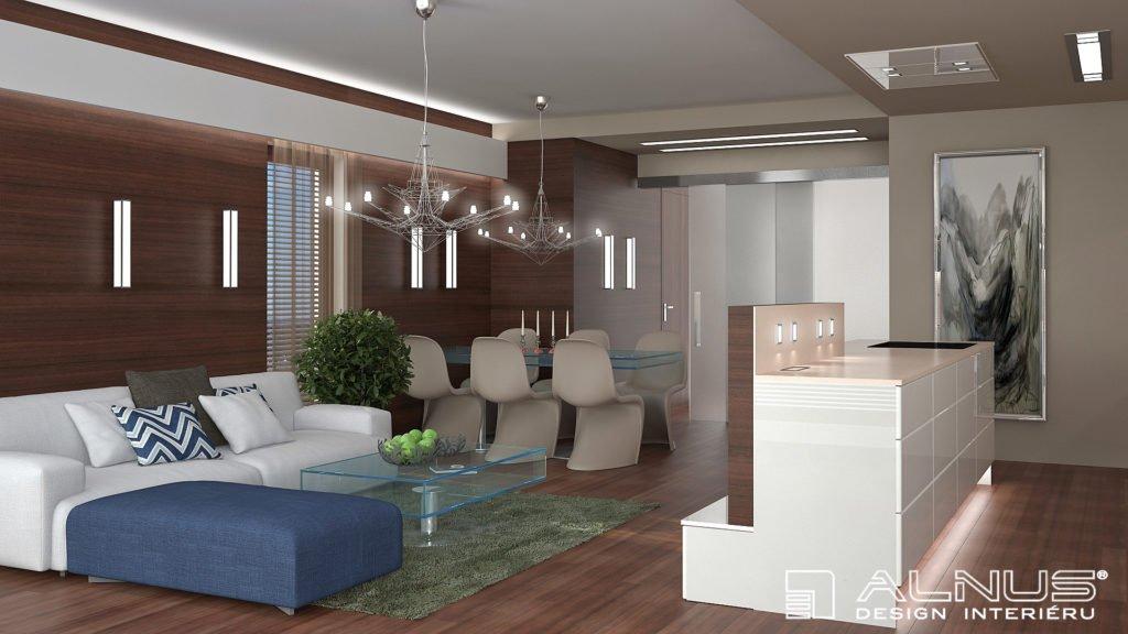 kuchyně s obývákem v malém prostoru