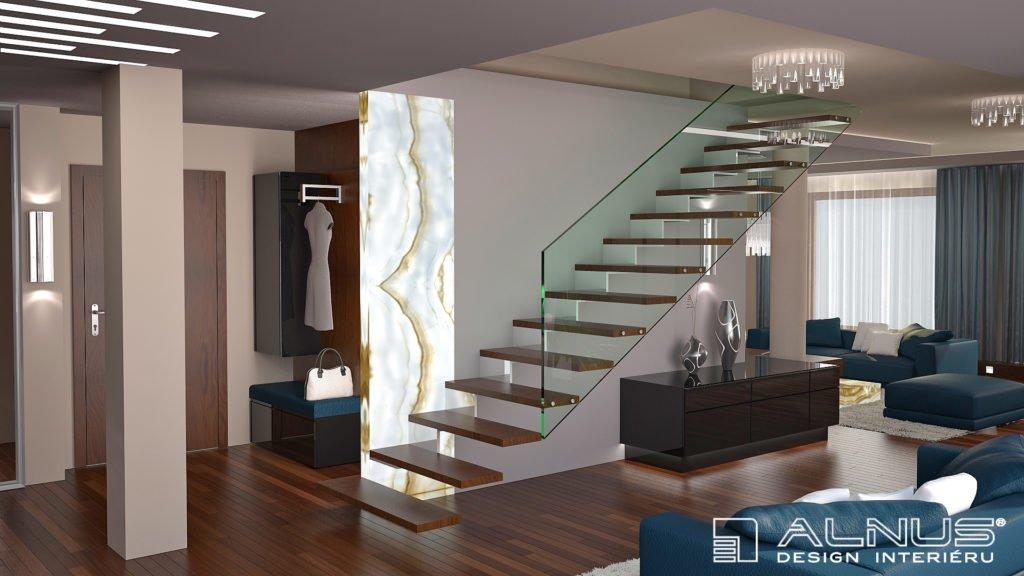 moderní design interiéru mezonetového bytu