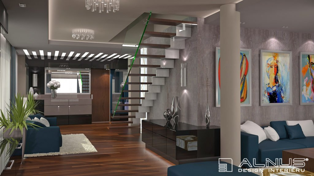 interiér mezonetového bytu