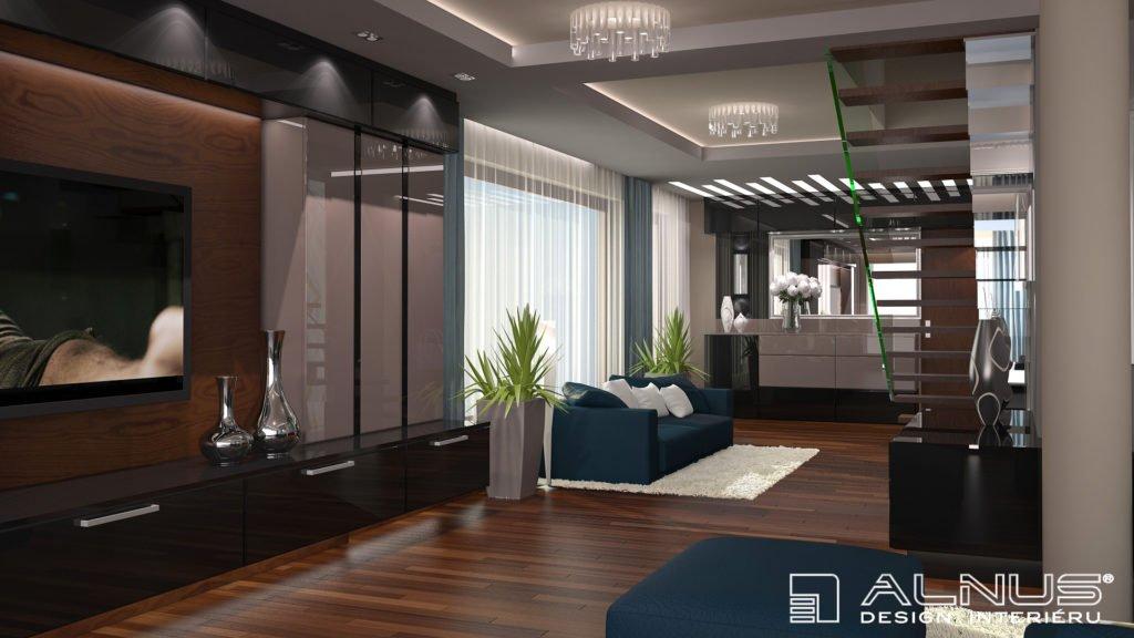 moderní interiér mezonetového bytu
