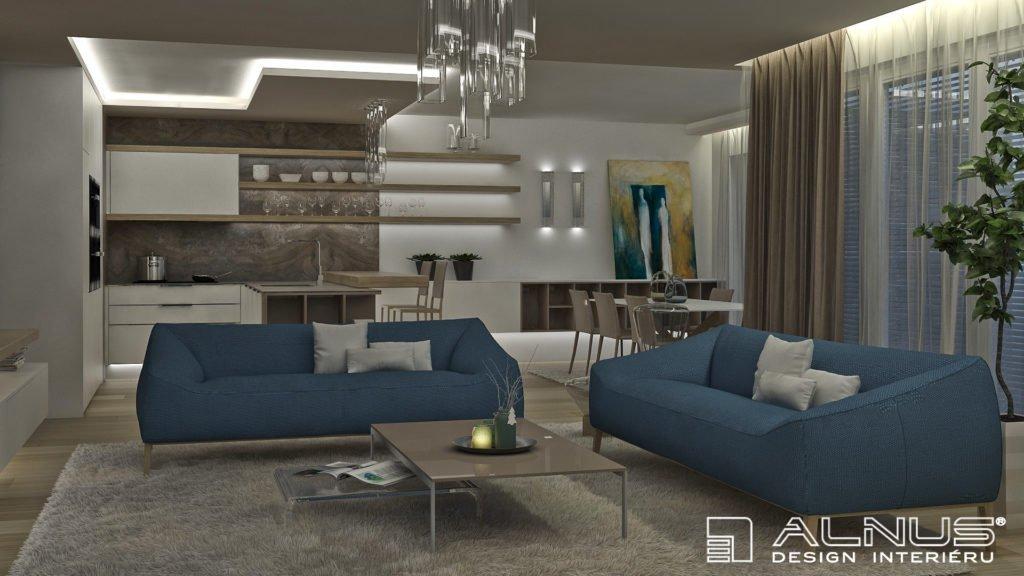 moderní interiér bytu obývacího pokoje