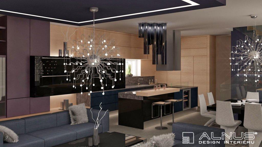 kuchyně s obývacím pokojem spojená