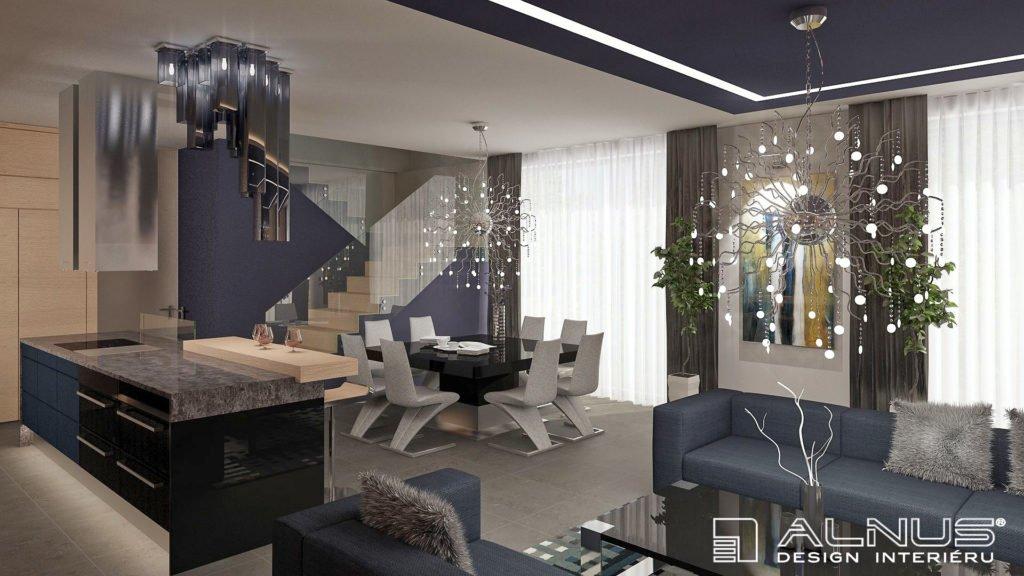 propojení kuchyně a jídelny s obývákem