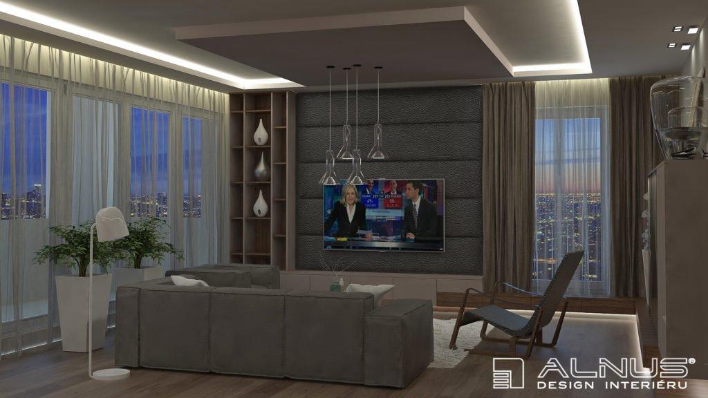 obývací pokoj v interiéru bytu 3+kk v praze