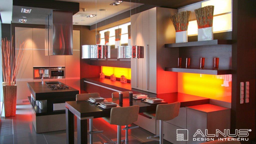 moderní kuchyně kapučíno