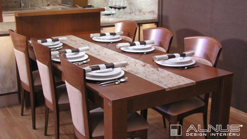 design jídelního stolu se žulovou deskou