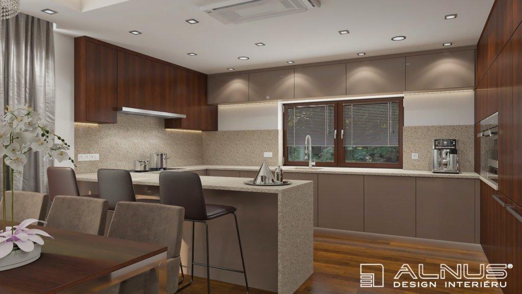moderní kuchyně s oknem
