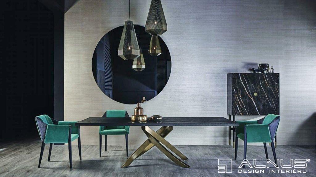 design podnože jídelního stolu moderního interiéru domu