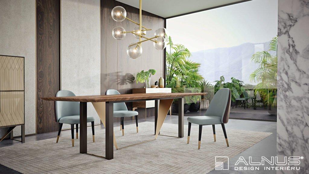 jídelna v moderním interiéru domu